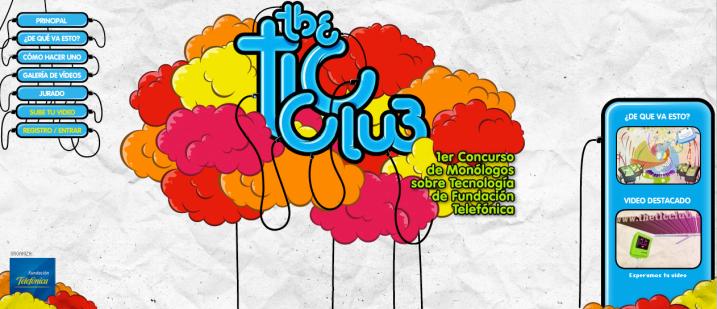 Home de The Tic Club, 1er concurso de monólogos de Fundación Telefónica